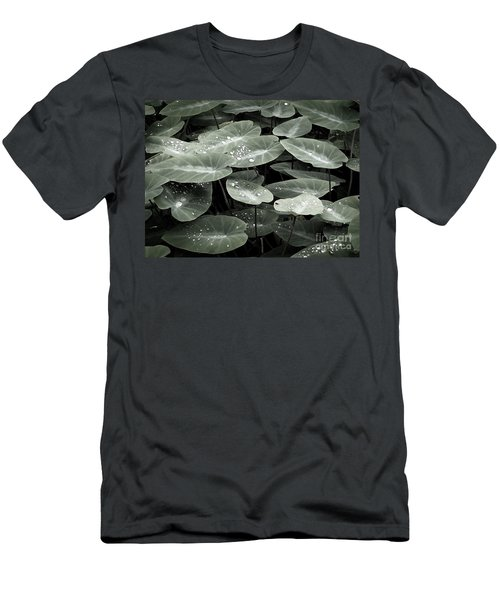 Men's T-Shirt (Slim Fit) featuring the photograph Water On Ivy by Ellen Cotton