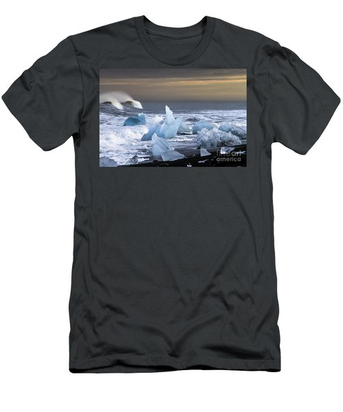 Men's T-Shirt (Slim Fit) featuring the photograph Water Versus Ice by Gunnar Orn Arnason