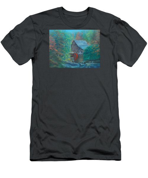Water Wheel House  Men's T-Shirt (Athletic Fit)