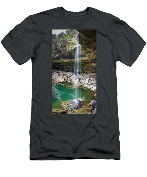 Waterfall At Hamilton Pool Men's T-Shirt (Athletic Fit)