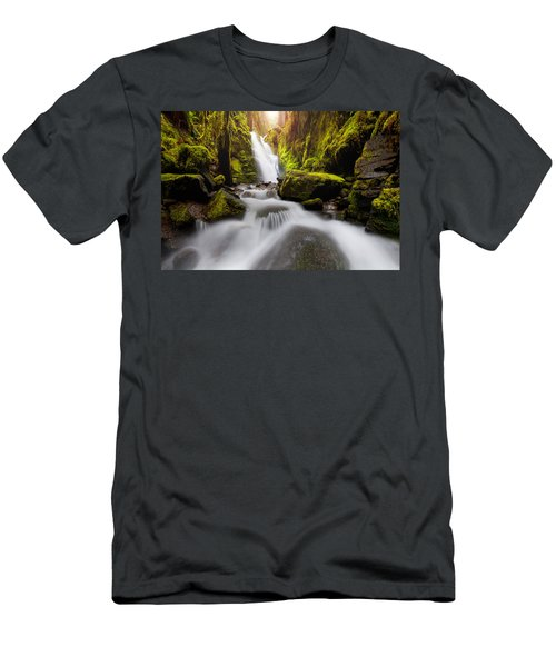 Waterfall Glow Men's T-Shirt (Athletic Fit)