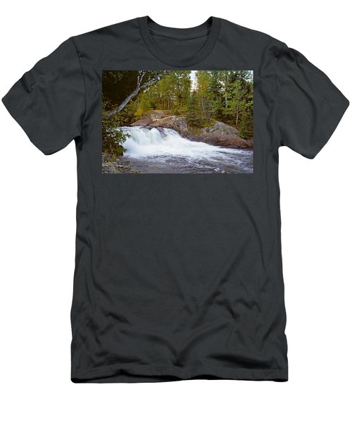 Waterfall In A Forest, Oxtongue River Men's T-Shirt (Athletic Fit)