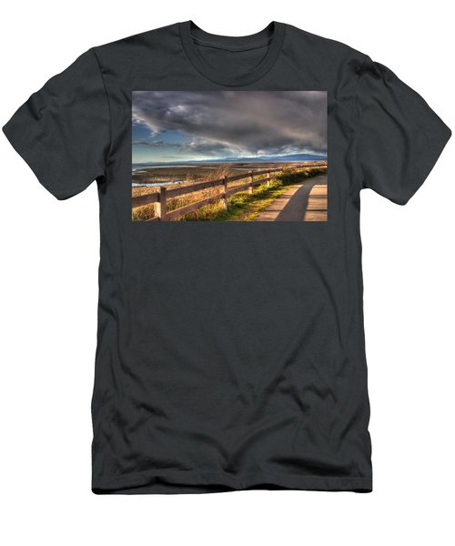 Waterfront Walkway Men's T-Shirt (Athletic Fit)