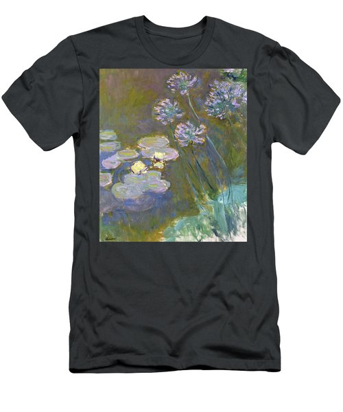 Waterlilies And Agapanthus Men's T-Shirt (Athletic Fit)