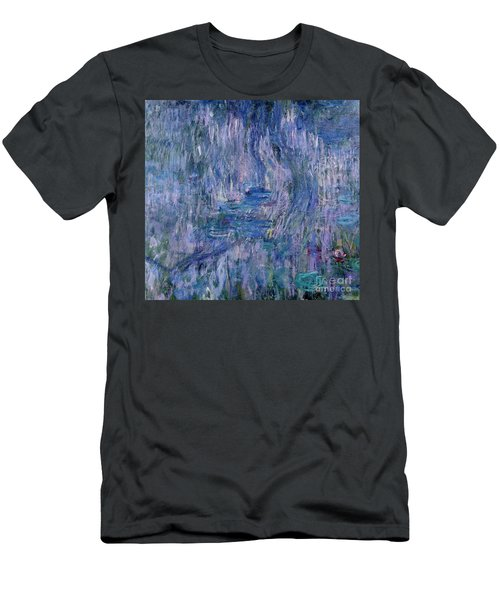 Waterlilies And Reflections Of A Willow Tree Men's T-Shirt (Athletic Fit)