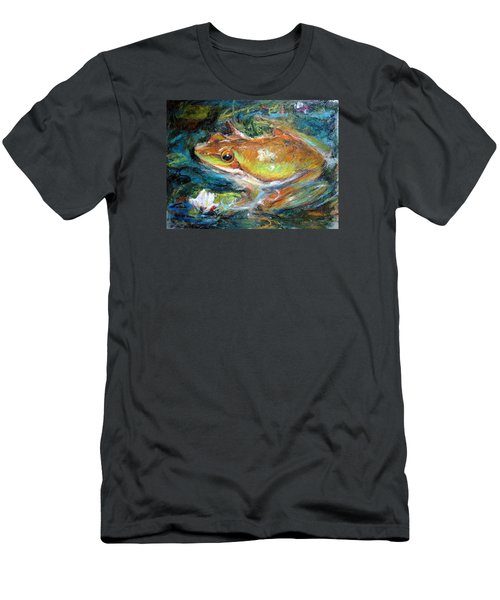 Waterlily And Frog Men's T-Shirt (Athletic Fit)