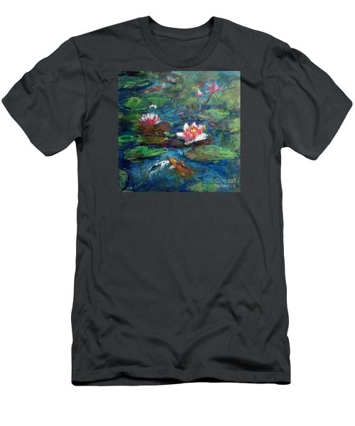 Waterlily In Water Men's T-Shirt (Athletic Fit)
