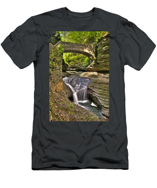 Watkins Glen Waterfalls Men's T-Shirt (Athletic Fit)