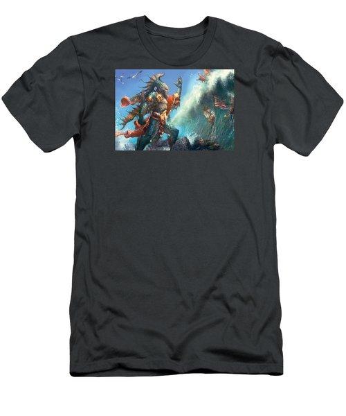 Wavecrash Triton Men's T-Shirt (Athletic Fit)