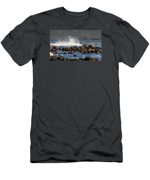 Waves Wind And Whitecaps Men's T-Shirt (Slim Fit) by John Telfer