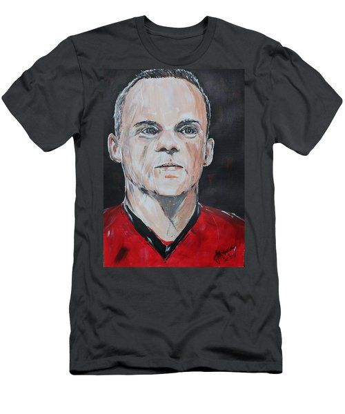 Wayne Rooney Men's T-Shirt (Slim Fit) by John Halliday