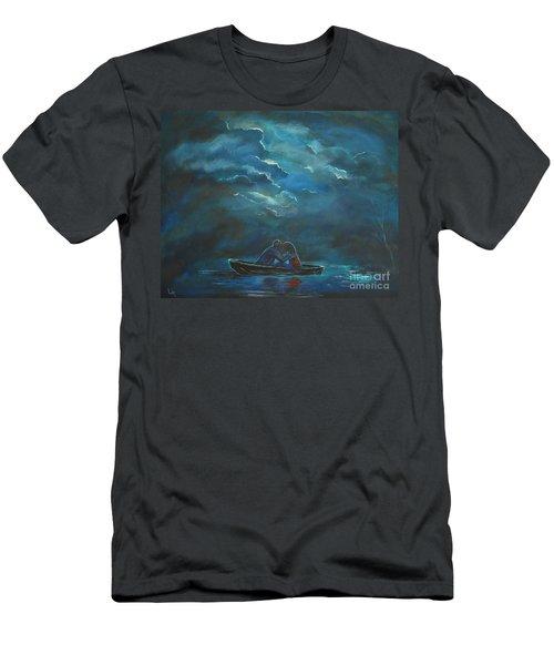 Weathering The Storm Men's T-Shirt (Slim Fit) by Leslie Allen