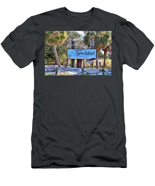 Welcome To Tybee Men's T-Shirt (Slim Fit) by Gordon Elwell