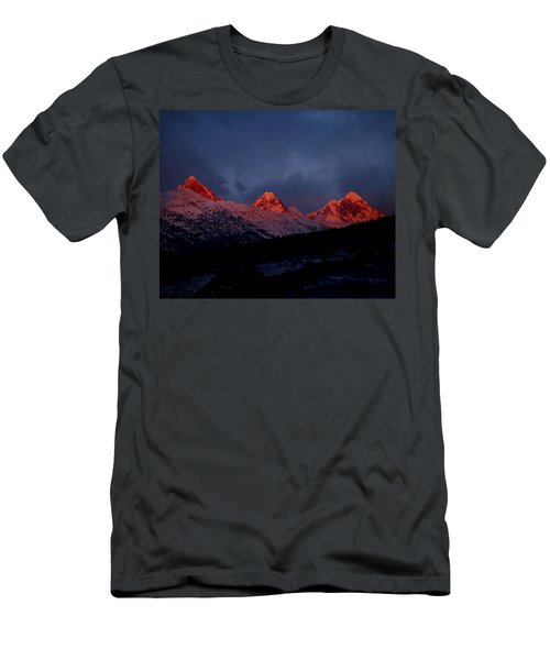 West Side Teton Sunset Men's T-Shirt (Slim Fit) by Raymond Salani III
