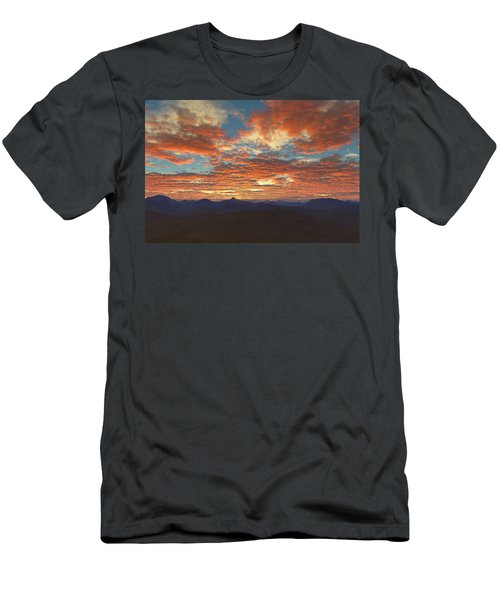 Western Sunset Men's T-Shirt (Athletic Fit)