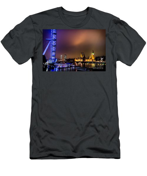 Westminster And Eye Night Glow Men's T-Shirt (Athletic Fit)