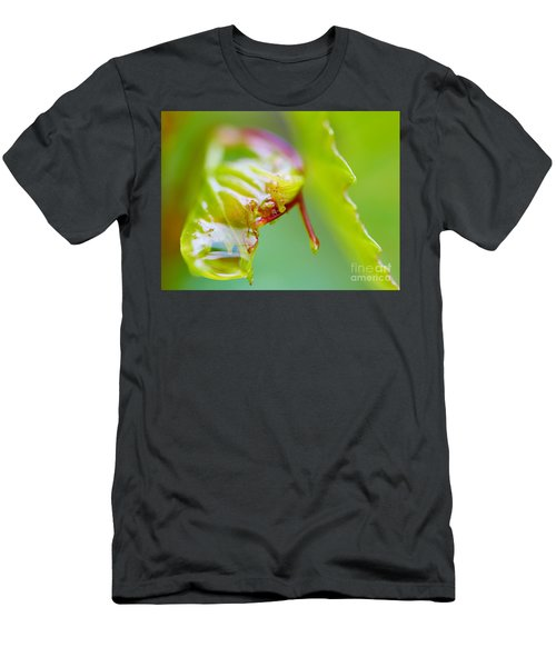 Wet Grape Leaf  Men's T-Shirt (Athletic Fit)