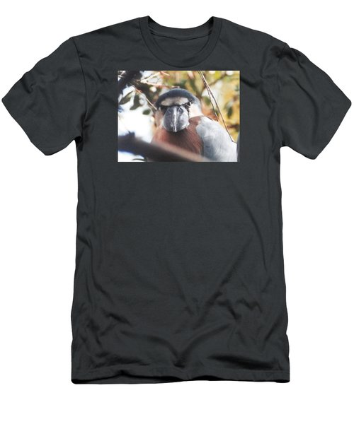 Men's T-Shirt (Slim Fit) featuring the photograph Funny Bird Face by Belinda Lee