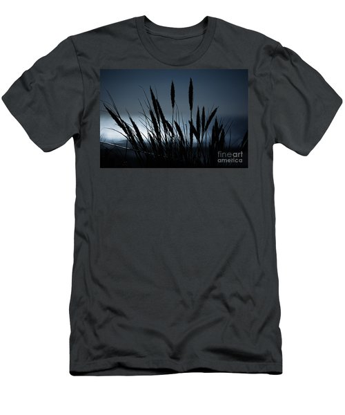 Wheat Stalks On A Dune At Moonlight Men's T-Shirt (Athletic Fit)