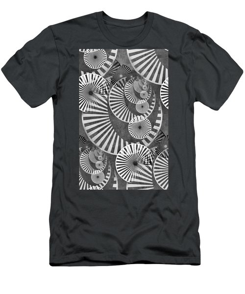 Wheel In The Sky Bw Men's T-Shirt (Athletic Fit)