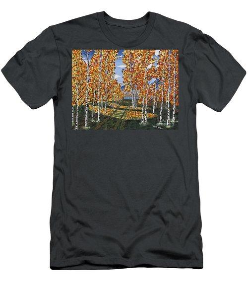 White Birch Reservoir  Men's T-Shirt (Athletic Fit)