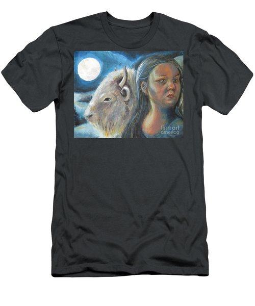 White Buffalo Portrait Men's T-Shirt (Athletic Fit)