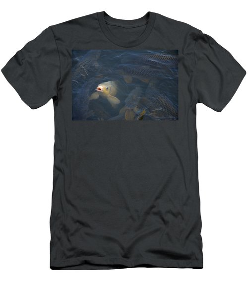 White Carp In The Lake Men's T-Shirt (Slim Fit) by Chris Flees