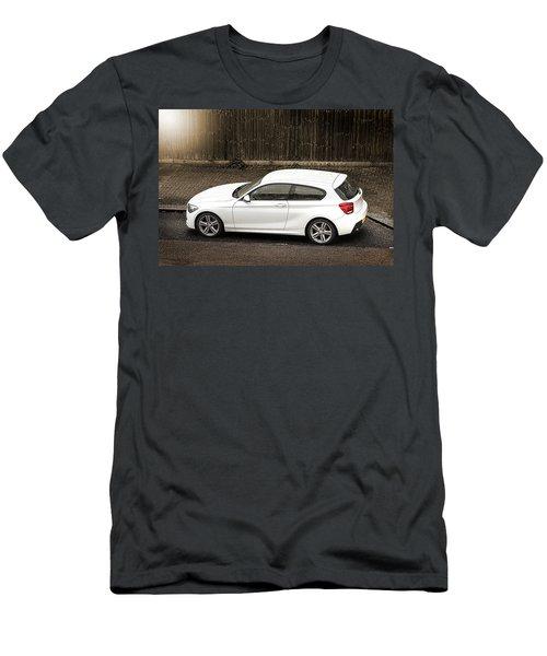 White Hatchback Car Men's T-Shirt (Athletic Fit)