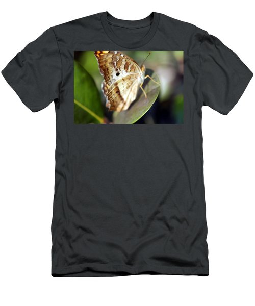 Men's T-Shirt (Slim Fit) featuring the photograph White Peacock Butterfly by Greg Allore