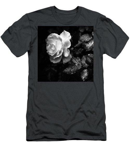 White Rose Full Bloom Men's T-Shirt (Athletic Fit)