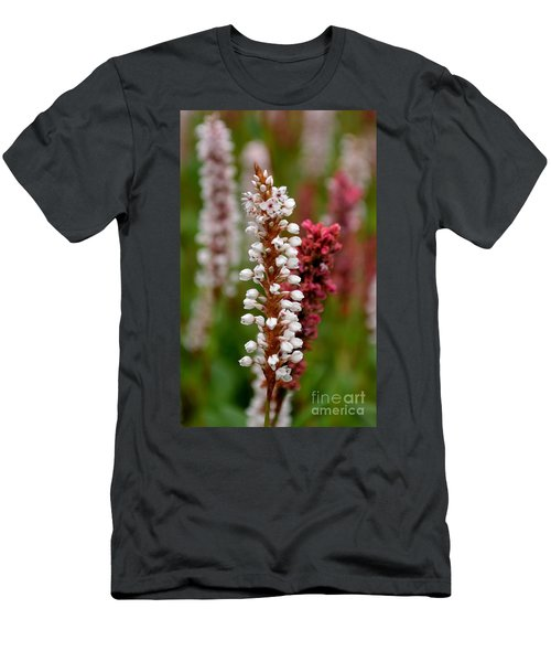 White Stalk Flower Men's T-Shirt (Athletic Fit)