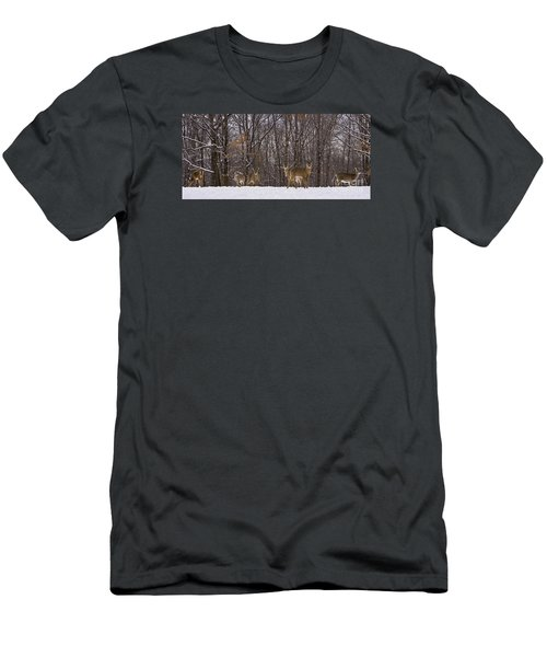 White Tailed Deer Men's T-Shirt (Slim Fit) by Anthony Sacco