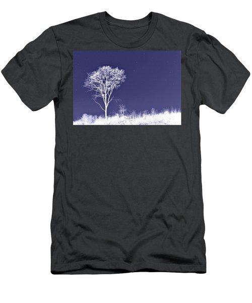 White Tree - Blue Sky - Silver Stars Men's T-Shirt (Athletic Fit)