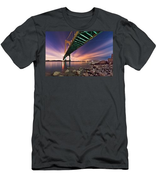 Whitestone Bridge Men's T-Shirt (Slim Fit) by Mihai Andritoiu