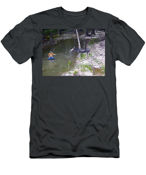 Men's T-Shirt (Slim Fit) featuring the photograph Who Is More Stubborn by John Glass