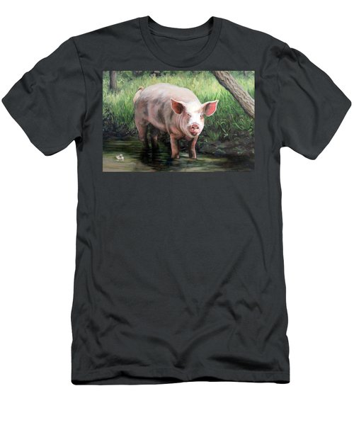 Wilbur In His Woods Men's T-Shirt (Slim Fit) by Sandra Chase