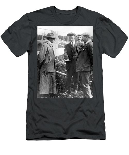 Men's T-Shirt (Slim Fit) featuring the photograph Wilbur Wright, 1908 by Science Source