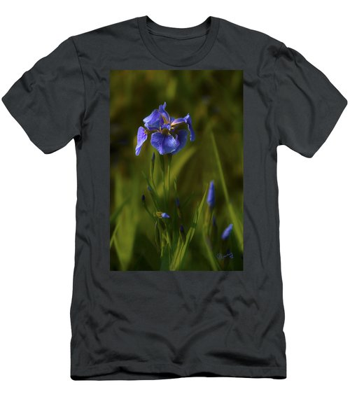 Wild Alaskan Iris Men's T-Shirt (Athletic Fit)