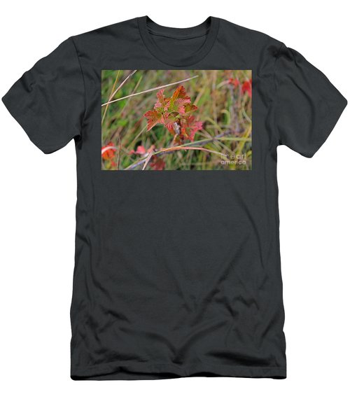 Men's T-Shirt (Athletic Fit) featuring the photograph Wild Gooseberry Leaves by Ann E Robson