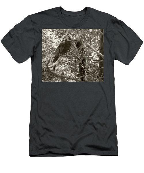 Wild Hawaiian Parrot Sepia Men's T-Shirt (Athletic Fit)