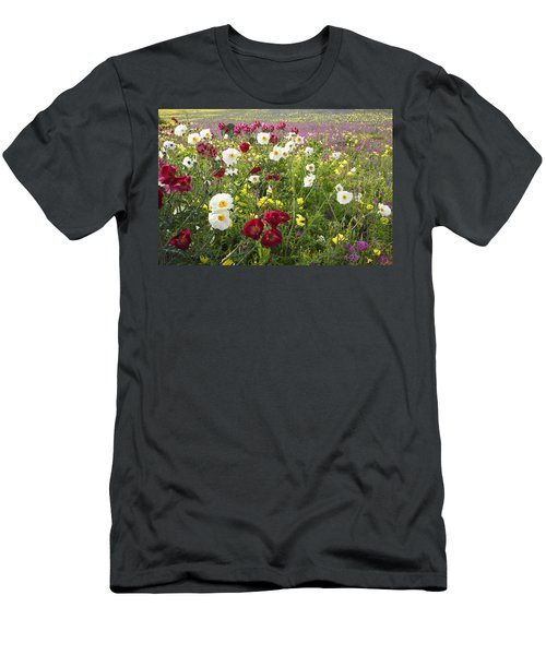 Wild Poppies South Texas Men's T-Shirt (Athletic Fit)
