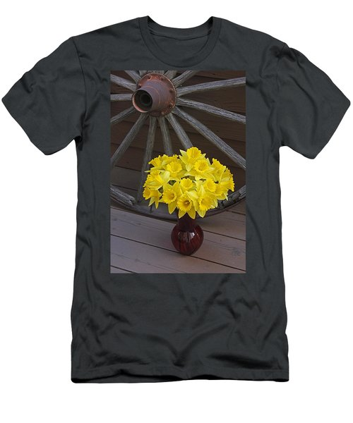 Men's T-Shirt (Slim Fit) featuring the photograph Wild West Daffodils by Diane Alexander