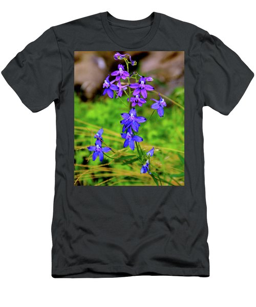 Wildflower Larkspur Men's T-Shirt (Athletic Fit)