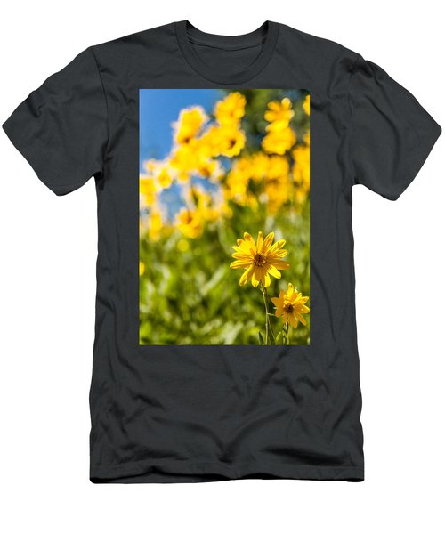 Wildflowers Standing Out Abstract Men's T-Shirt (Athletic Fit)