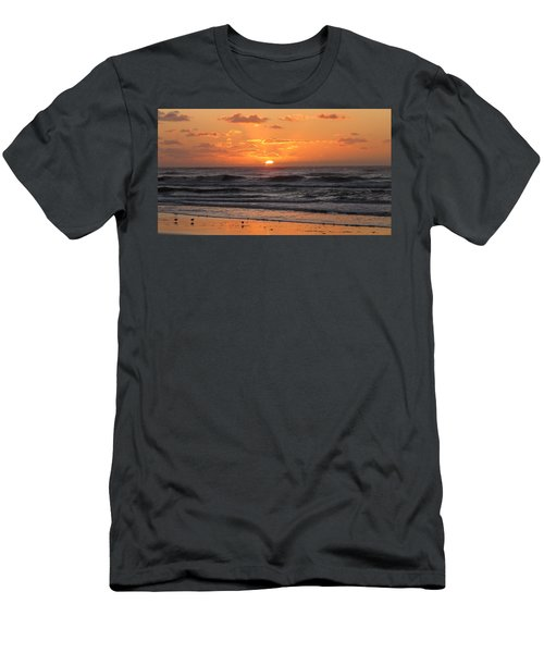 Wildwood Beach Here Comes The Sun Men's T-Shirt (Slim Fit) by David Dehner
