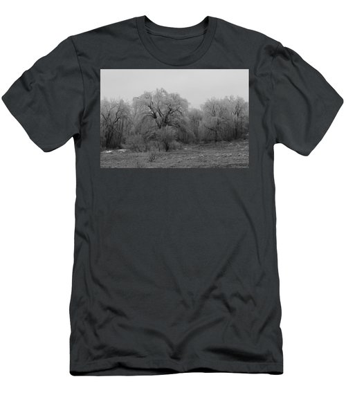 Willow Trees Iced B/w Men's T-Shirt (Athletic Fit)