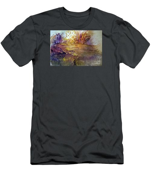 Men's T-Shirt (Slim Fit) featuring the painting Wind In Fall by Allison Ashton