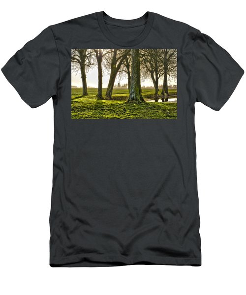 Windmill And Trees In Groningen Men's T-Shirt (Athletic Fit)