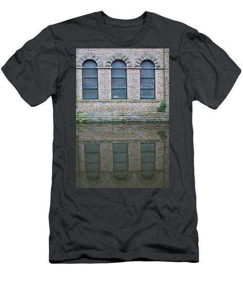 Windows Reflected In Water Men's T-Shirt (Athletic Fit)