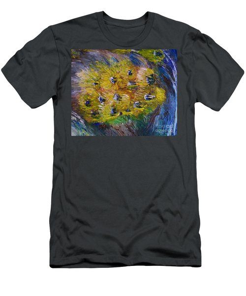 Windy Men's T-Shirt (Slim Fit) by Laurie L